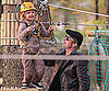 Slide Picture of Brad Pitt and Shiloh at Park in Budapest