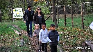 Video of Brad Pitt, Angelina Jolie, and the Kids at the Park in Budapest 2010-11-06 14:11:18
