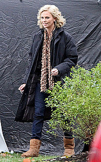 Pictures of Charlize Theron Bundling Up on the Set of Young Adult as She Reportedly Eyes a Witchy Role