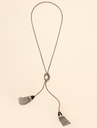 Double Tassel Necklace ($98)