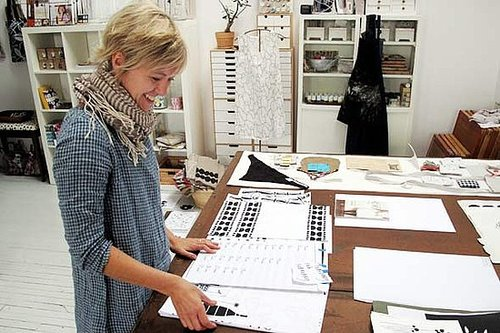 ShelterPop Story With Photos of Lotta Jansdotter Studio Tour