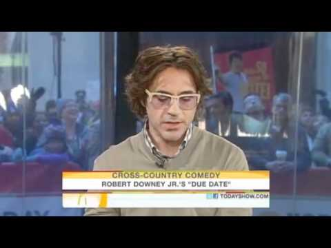Robert Downey Jr. on the Today Show. (Nov 2010)