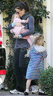 Pictures of Jennifer Garner, Violet and Seraphina Affleck Arriving at a Playdate in LA