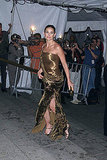 Channeling a gilded goddess at the Jacqueline Kennedy Costume Institute Gala in April 2001.