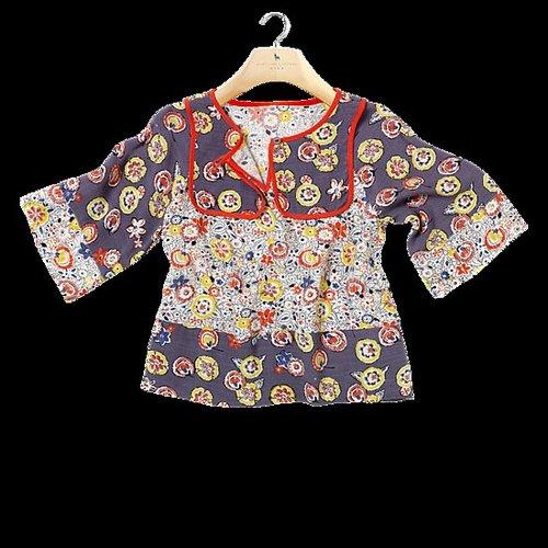 Lydia Blouse: Girls' floral print bohemian blouse (£49)