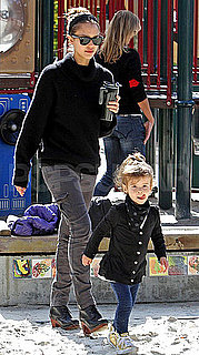 Pictures of Jessica Alba and Cash Warren Spending a Sunday in the Park With Honor