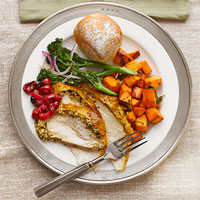 Grilled Turkey With Spiced Almond Butter
