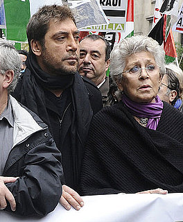 Pictures of Javier Bardem at Demonstration in Madrid to Condemn Unrest in the Western Sahara