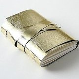 Gold Leather Lambskin Journal ($25)