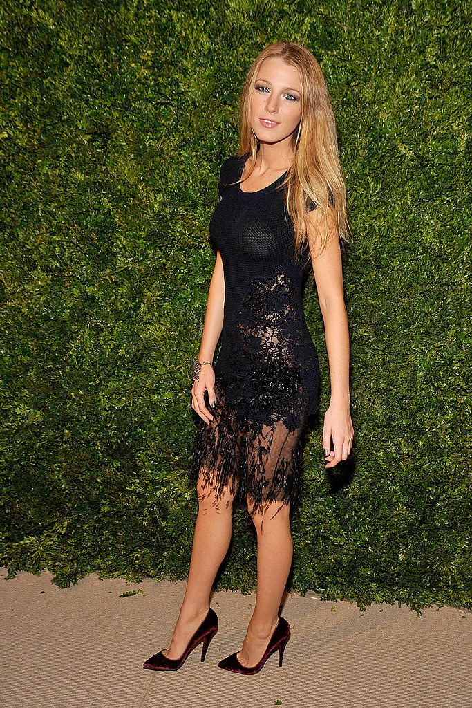 Blake Lively wowed in a knit, black Chanel.