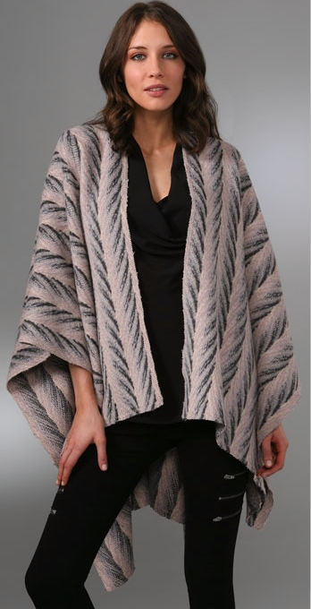 Leyendecker Knit Poncho ($178, originally $254)