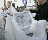 Tatiana Blatnik married Greece's Prince Nikolaos in the Summer of 2010 in a gorgeous lace number. It had a lot of material including a train and long veil.