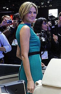 Pictures of Heidi Klum and Her Possibly New Short Hair at the LA Auto Show