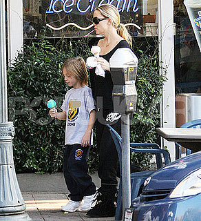 Pictures of Kate Hudson, Ryder Robinson, and Matt Bellamy Getting Ice Cream in LA