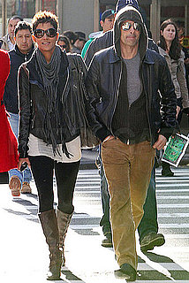 Pictures of Halle Berry and Olivier Martinez Looking Loved Up in Leather in NYC