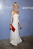 Minimalist in a white full-length dress at a Whitney art event in '06.