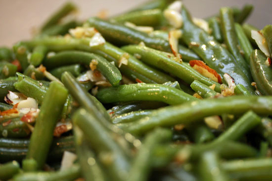 Haricots Verts With Shallots and Almonds