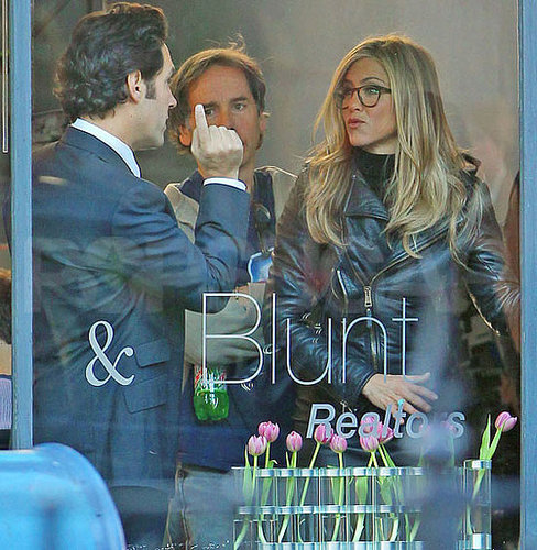 Pictures of Jennifer Aniston With Paul Rudd Shooting Wanderlust in NYC