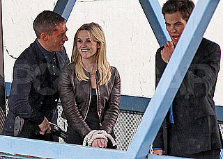 Pictures of Reese Witherspoon, Tom Hardy, and Chris Pine Shooting This Means War