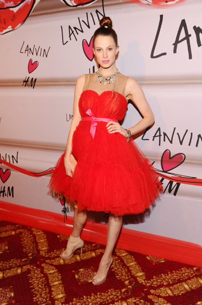 Elettra Wiedemann wore one of the boldest Lanvin for H&M pieces.