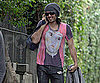 Slide Picture of Russell Brand Returning Home From Yoga