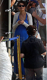 Pictures of Katie Holmes Cruising Along on the Set of Jack and Jill