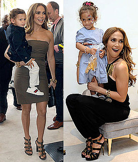 Pictures of Jennifer Lopez and Jennifer Meyer at a Gucci Children's Collection Event in LA