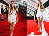 Miley Cyrus in Short White Dress at the 2010 American Music Awards