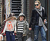 Slide Picture of Kate Winslet Picking Up Joe and Mia From School in NYC