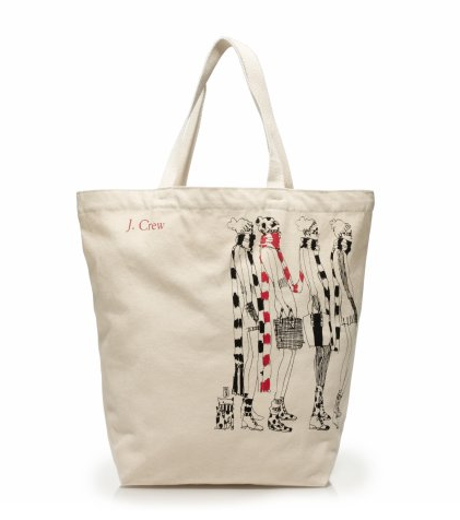 J.Crew Reusable Tote Bag ($10)