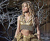 Slide Picture of Shakira Shooting a Commercial in Barcelona