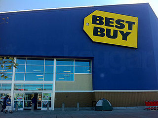 First Black Friday Camper Outside Best Buy