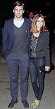 Olivia Palermo in flats! And still looking amazing standing next to her hot beau, Johannes Huebl.