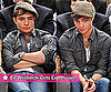 Gossip Girl's Ed Westwick Sitting Courtside at a Knicks Basketball Game at Madison Square Garden