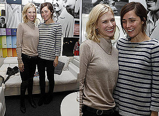 January Jones and Rose Byrne at World Tour Finals in London