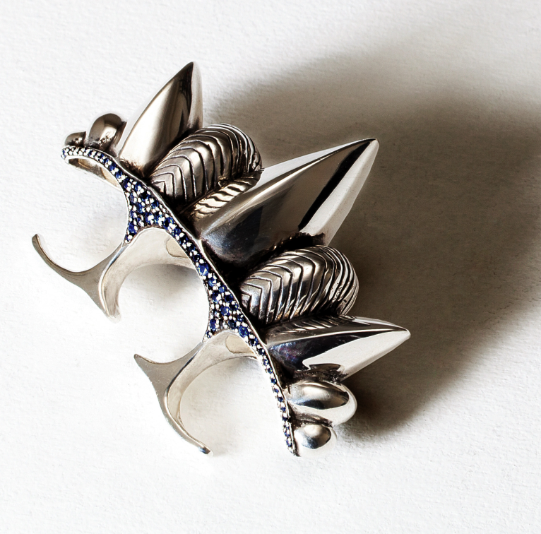 Three Finger Spike Ring