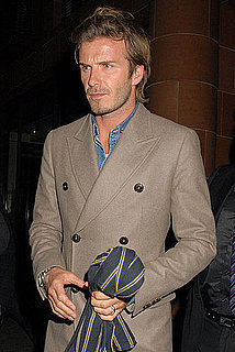 Pictures of David Beckham at Dinner With Friends in London