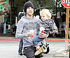 Slide Picture of Pete Wentz With Bronx in LA