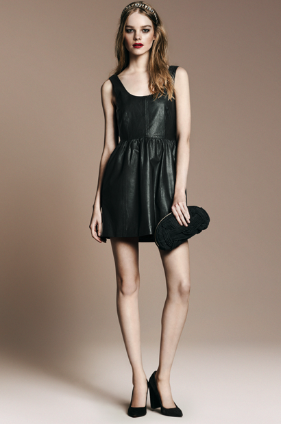 Leather Dress, Basic Knit Court Shoe ($90)