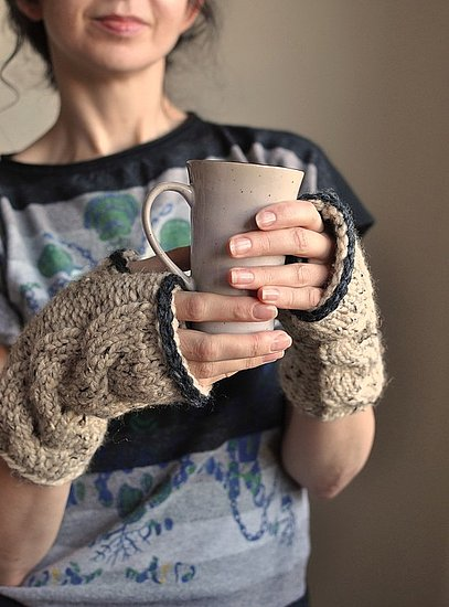 Freezebaby Chunky Cable-Knit Fingerless Gloves ($35)