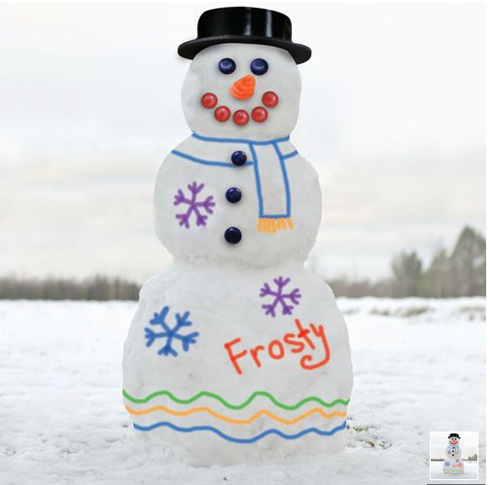 Snowman Decorating Paint