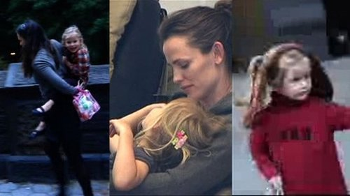 Video of Violet Affleck With Jennifer Garner and Ben Affleck