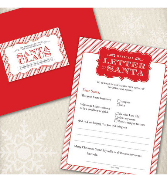 Official Letter to Santa Kit