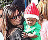 Slide Picture of Sandra and Louis Bullock at Christmas Party