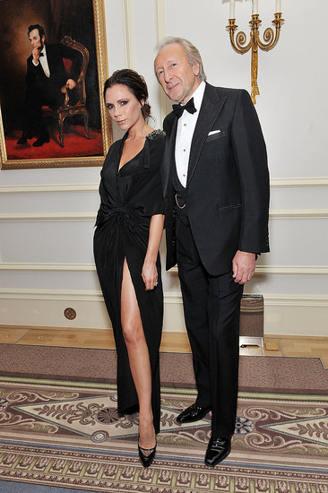 Victoria Beckham, British Fashion Council chairman Harold Tillman