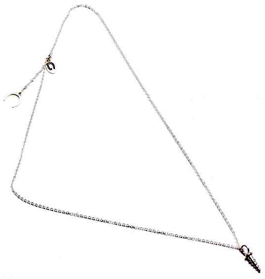 Giles & Brother Silver Tiny Screw Charm Necklace ($92)