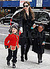 Pictures of Angelina Jolie, Shiloh, Zahara, Maddox and Pax at NYC Art Store