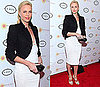 Photos of Charlize Theron in a White Dress at Charity Fundraiser in New York
