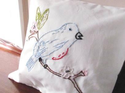 Eastern Bluebird Pillow