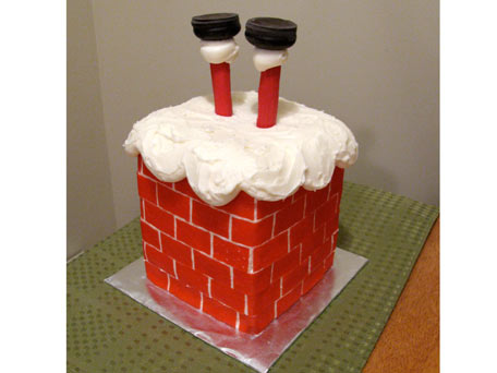 KitchenDaily Recipe For Santa Christmas Cake: Down the Chimney